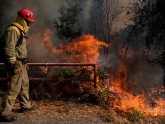 El incendio en Cualedro (Ourense) arrasa más de 1.000 hectáreas