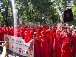Manifestación contra los cierres de Nissan en Cataluña.