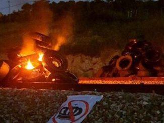 Sabotean el AVE en Gerona en protestas antimonárquicas