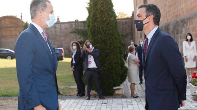 El rey Felipe y Pedro Sánchez se reúnen en las Baleares.
