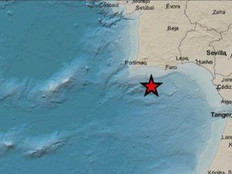 Terremoto de 4 grados con epicentro en el Golfo de Cádiz