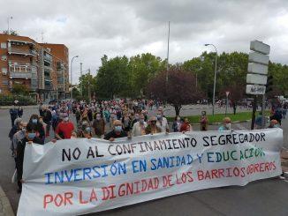 Manifestación convocada para el domingo 27 por las medidas de Ayuso