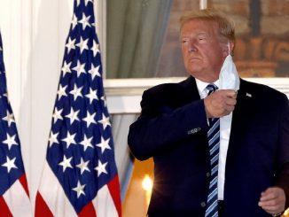 Trump sin mascarilla en su vuelta a la Casa Blanca