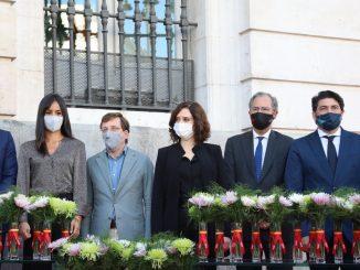 El Gobierno de Madrid realiza un homenaje a las víctimas de la COVID-19