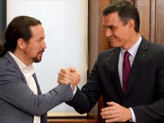 Pedro Sánchez muestra apoyo a Pablo Iglesias tras su imputación