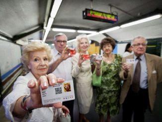 Madrid rebaja 25% precio del abono transporte para los mayores de 65