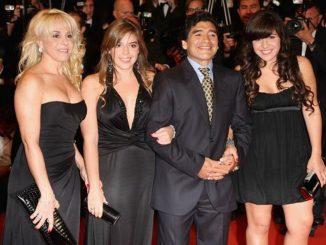 El «Pelusa» Diego Maradona dejó una gran familia