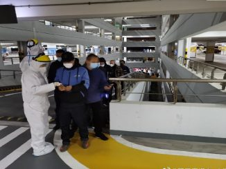 pasajeros empleados Shangai