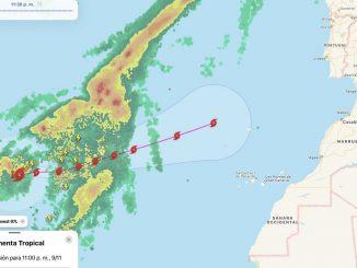 Se acerca a España la tormenta subtoprical 'Theta'