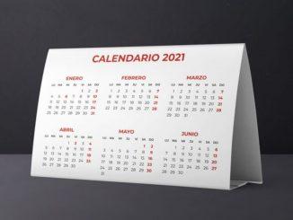 Este es el calendario de días inhábiles en el 2021, según el BOE