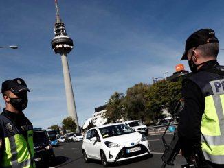 Madrid: dispositivo de 7.000 agentes que controlan entradas y salidas