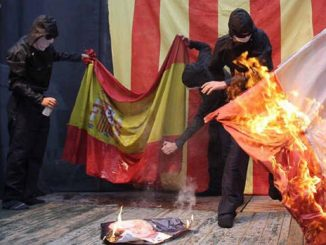 El Constitucional considera delito quemar banderas