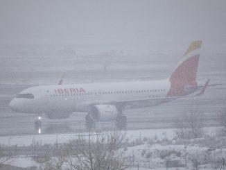 Temporal «Filomena» obliga a cerrar el aeropuerto de Madrid