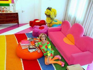 Ágatha Ruiz: comparte en sus redes sociales, el estilo de su casa