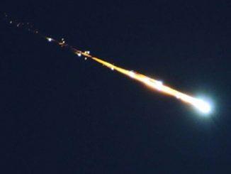 Bola de fuego procedente de un asteroide sobrevuela Granada