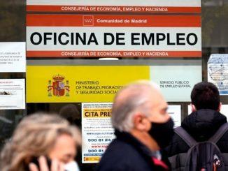 El año del Covid-19 deja en España 3,8 millones de personas en paro