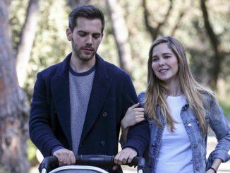 Natalia Sánchez y Marc Clotet confinados con sus dos hijos