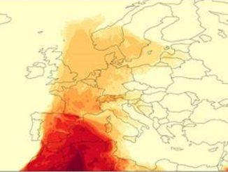 Una nube de polvo sahariano llega a España