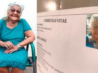 Mujer brasileña de 101 años busca trabajo para pagarse sus vinos