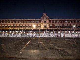 El muro de México que recuerda a las víctimas de feminicidios