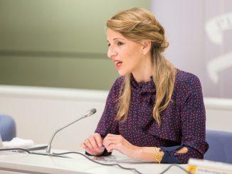 Iglesias presenta a Yolanda Díaz como vicepresidenta segunda