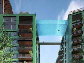 Londres tendrá una piscina transparente a 30 metros de altura