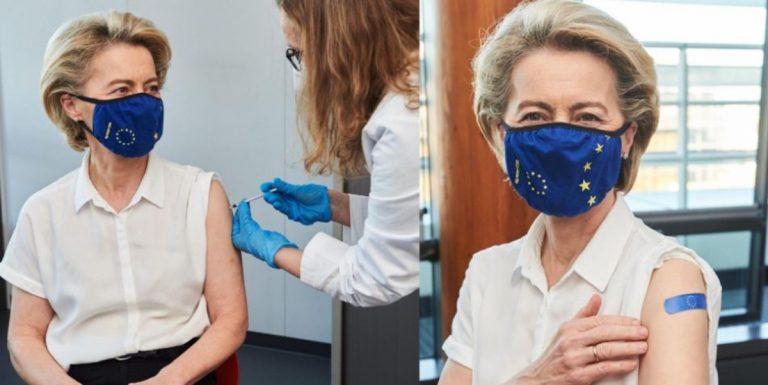 Ursula vor der Leyen se vacuna contra covid