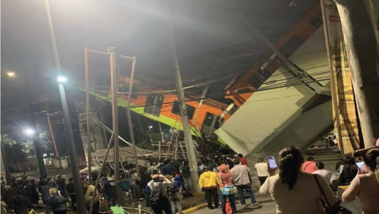 Metro de la Ciudad de México sufre un desplome