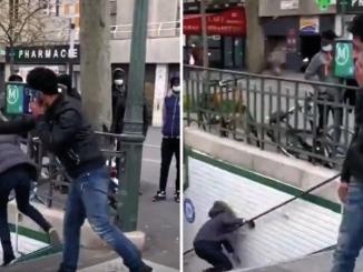 Expulsado de Franci por empujar una mujer en el Metro de París