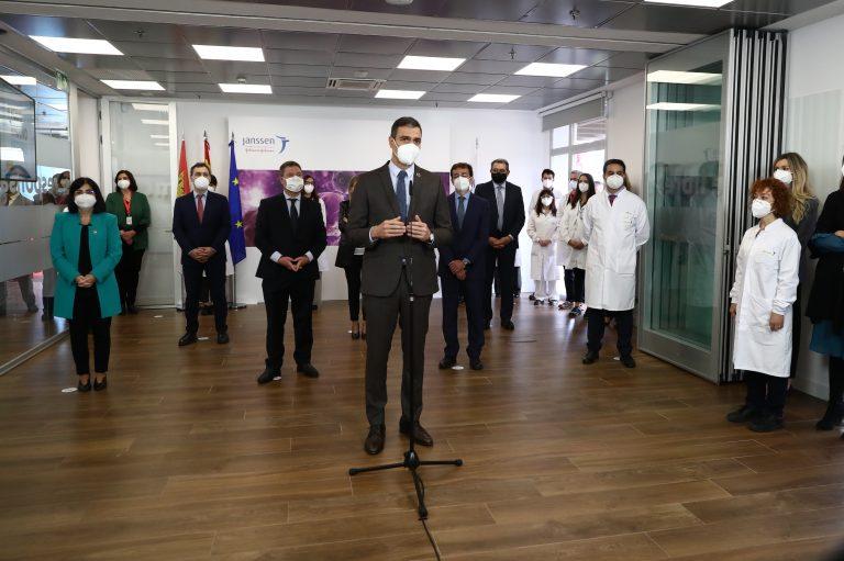 Pedro Sánchez apoya la postura de suspensión de patentes de vacunas