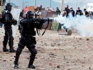 Nuevos disturbios dejan heridos en las protestas de Bogotá