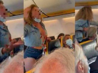 Pelea en un vuelo Ibiza-Bérgamo: la mujer insulta y agrede a los pasajeros