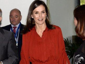 La Reina Letizia celebra San Juan con un vestido de Salvatore Ferragamo
