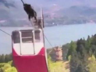 Italia, sale a la luz el vídeo del instante en que se produce el accidente del teleférico