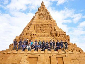 El castillo de arena más alto del mundo gana un Récord Guinness