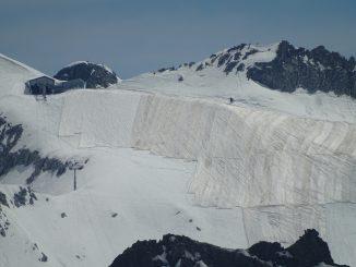 cubren glaciar Presena