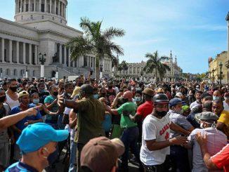 Históricas protestas Cuba