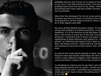 Declaraciones Cristiano Ronaldo