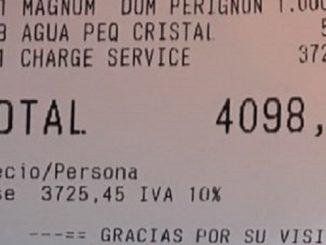 Una cuenta de 4.000 euros en un restaurante de Marbella se volvió viral en Twitter