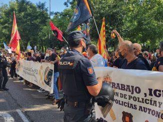 La manifestación de la guardia civil