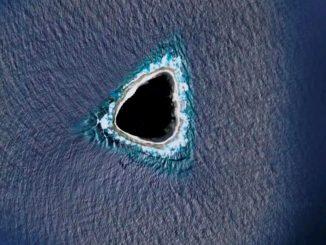 Internautas encuengtran un 'agujero negro' en medio del oceáno